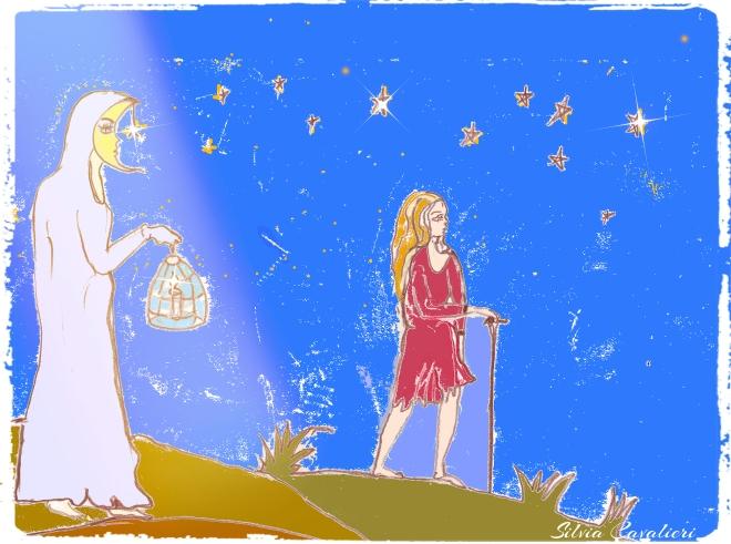 luna pellegrina e donna