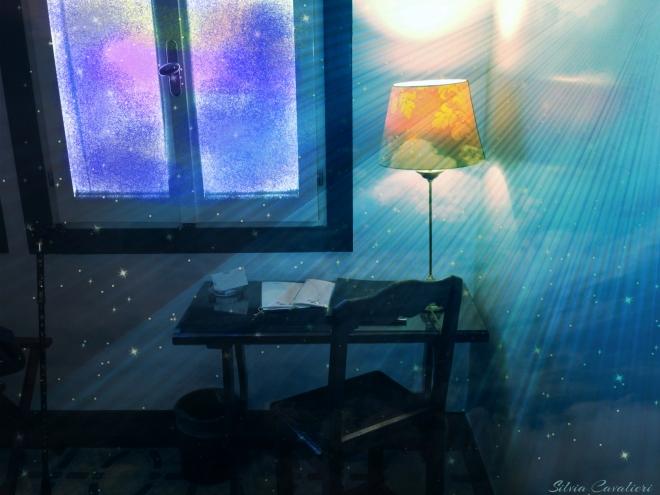 stanza con stelle e alba firmata
