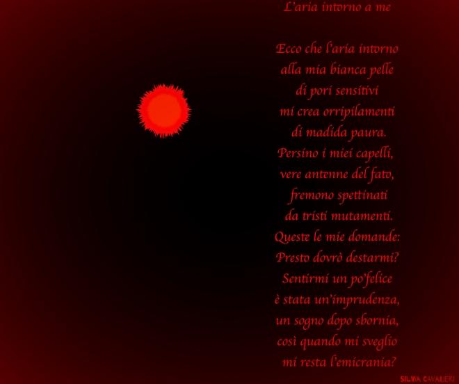 luna di sangue con poesia firmata