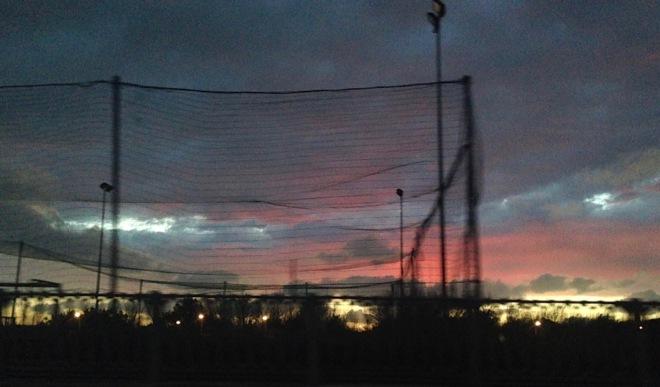 tramonto nella rete