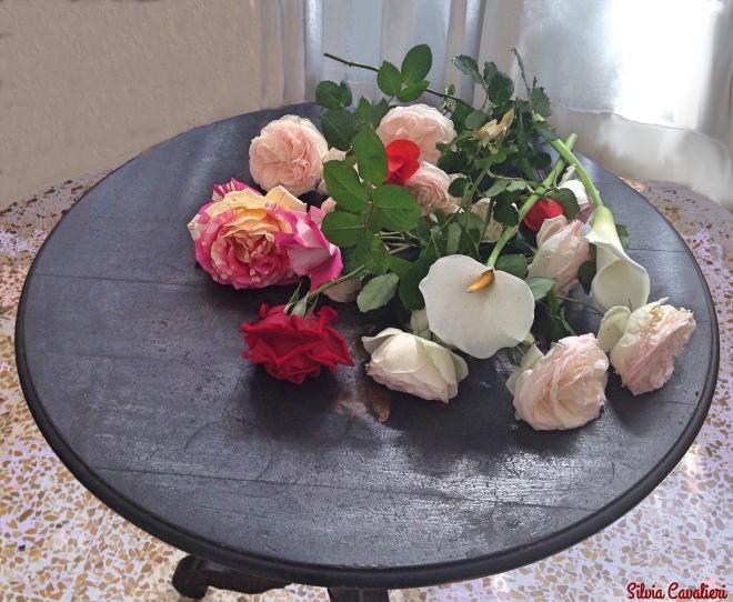 tavolo di rose
