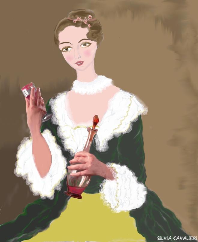 giovane bevitrice di ruchè