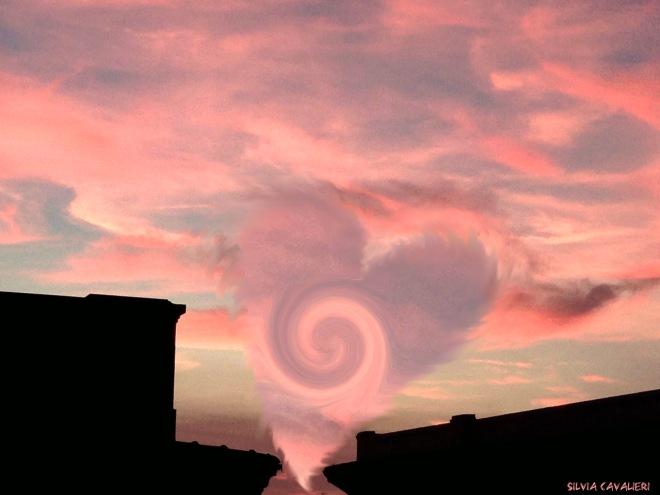 cuore al tramonto