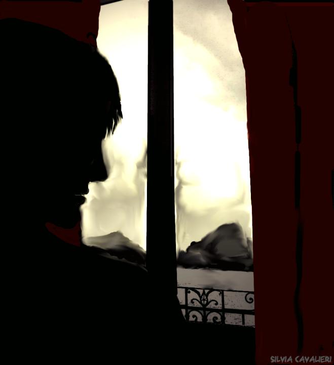 La finestra dalla tenda rossa