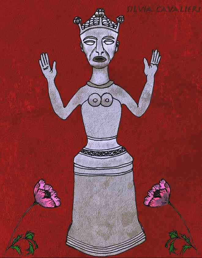 idolo dell'oppio con papaveri